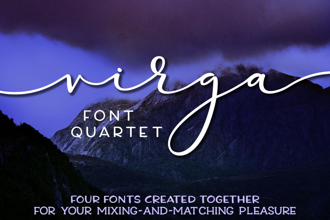 Virga: font quartet for mixing and matching