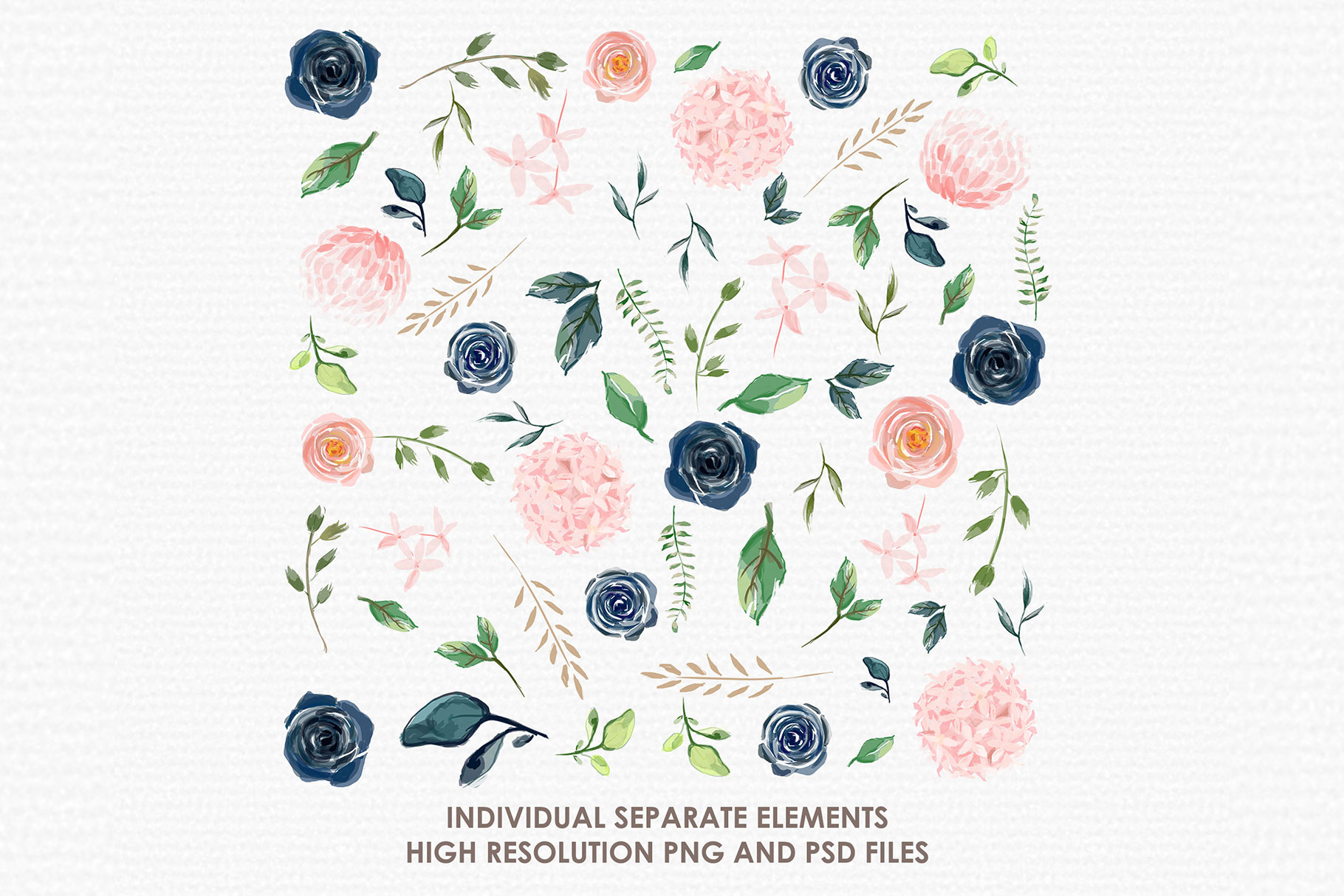 Morganisa - Digital Watercolor Floral Flower Style Clipart example image 2
