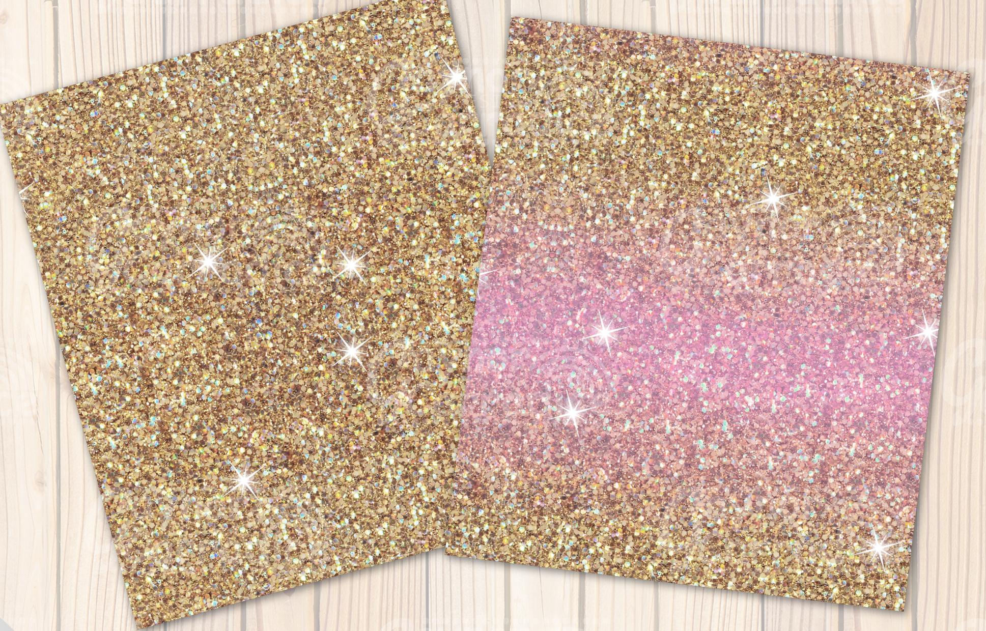 Christmas Unicorn Glitter seamless textures example image 6
