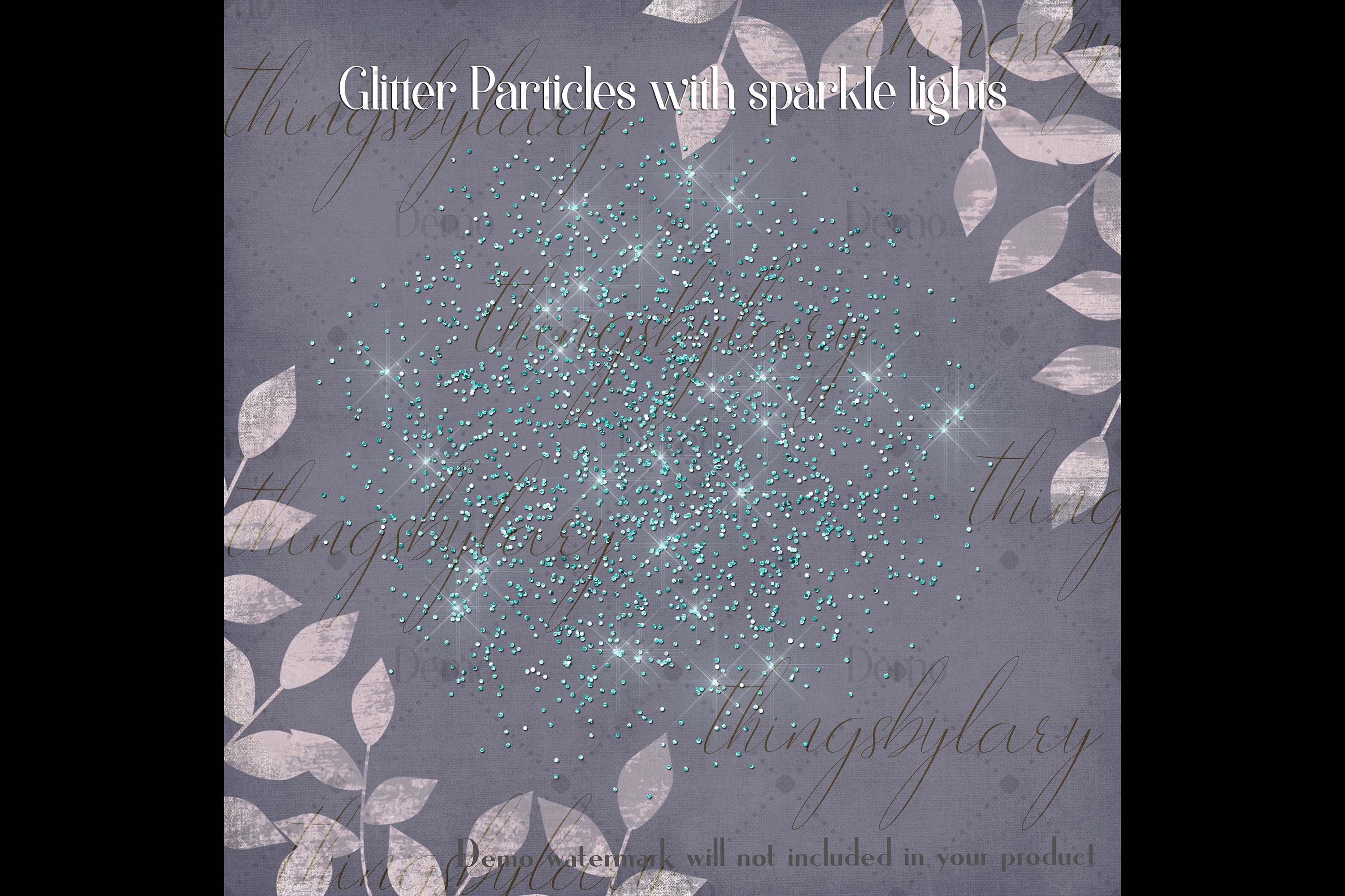 32 Glitter Particles Overlay Images Glitter Dust Confetti example image 5