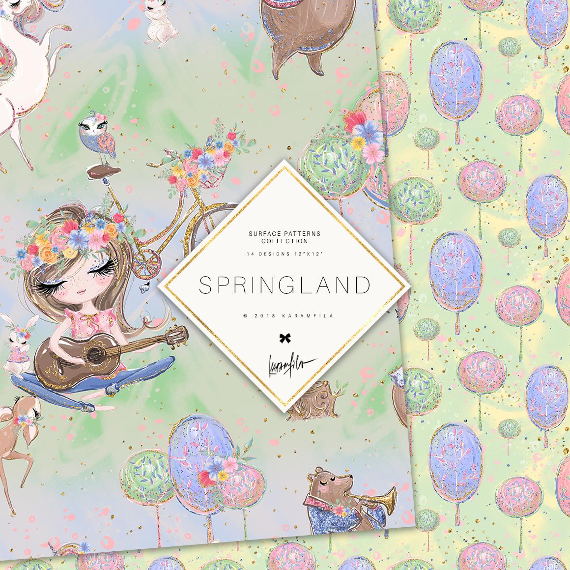 Spring Woodland Patterns example image 6