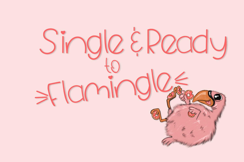 Fluffy Flamingo, A Fun Handwritten Font example image 3