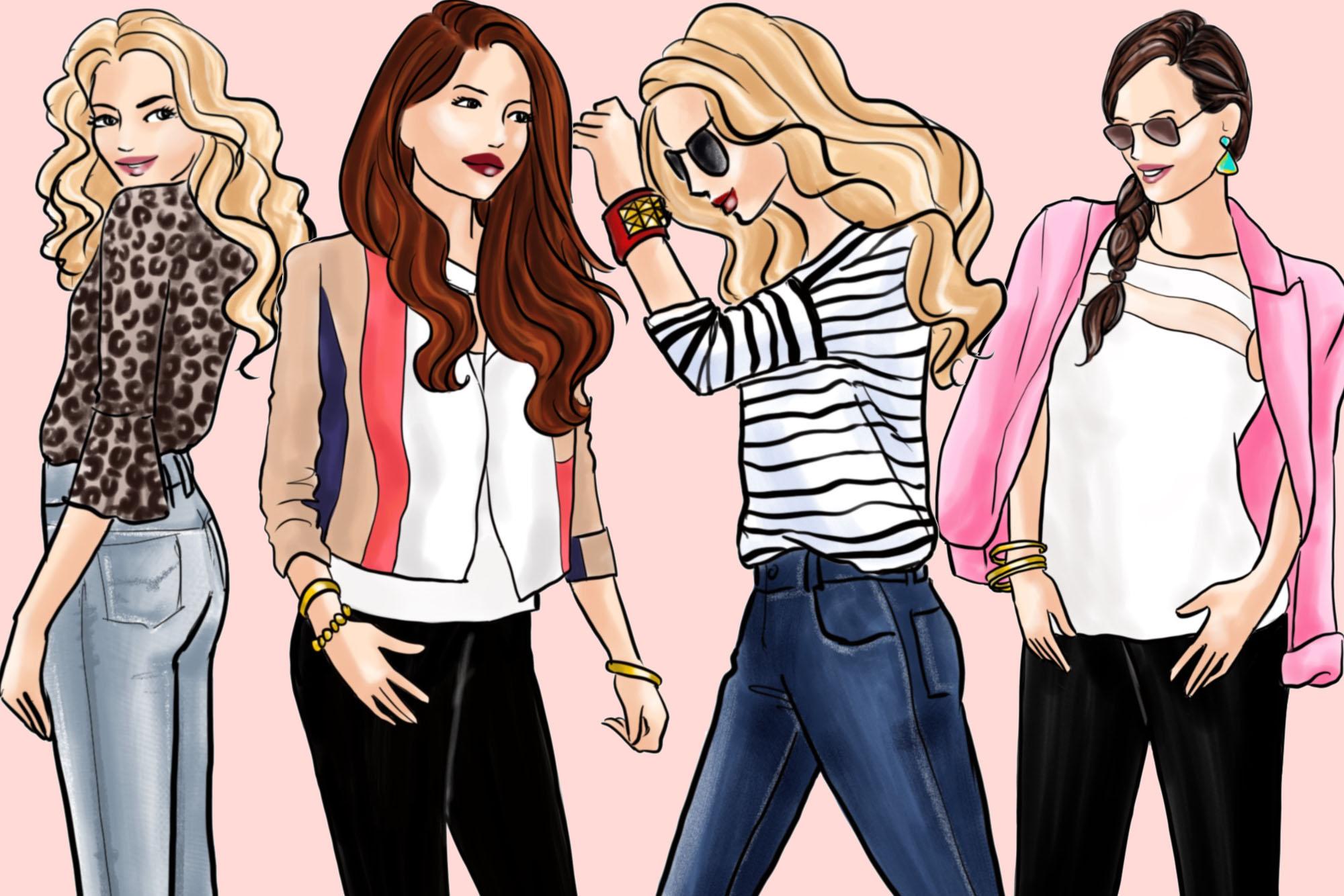 Fashion illustration clipart - Fashion Girls 31 - Light Skin example image 3