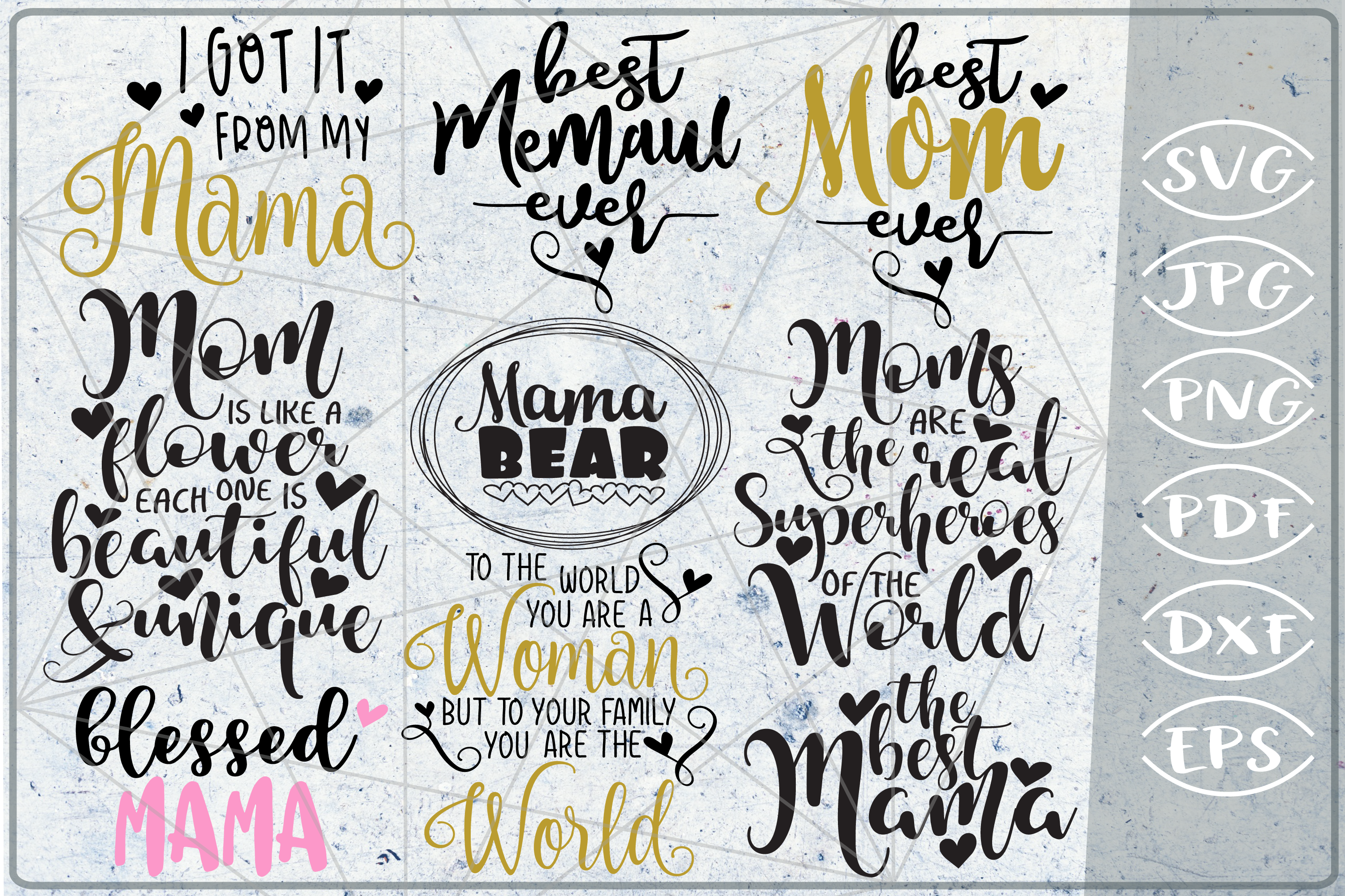 Mother's Day Bundle SVG Cutting Files example image 2