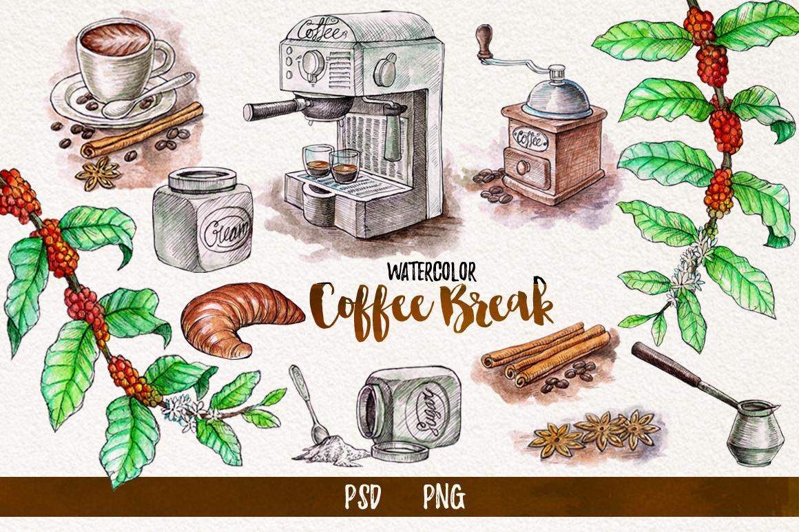 Watercolor Coffee Break example image 2