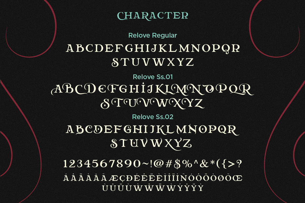 Relove Typeface + Extras example image 6