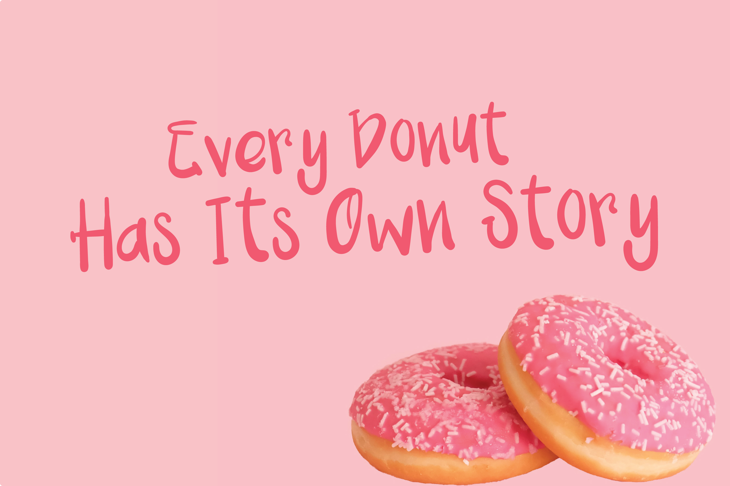 Pink Donuts - Hand drawn Cute Font example image 2