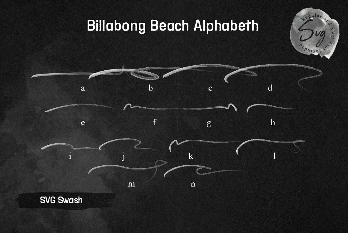 Billabong Beach SVG Font Duo example image 14