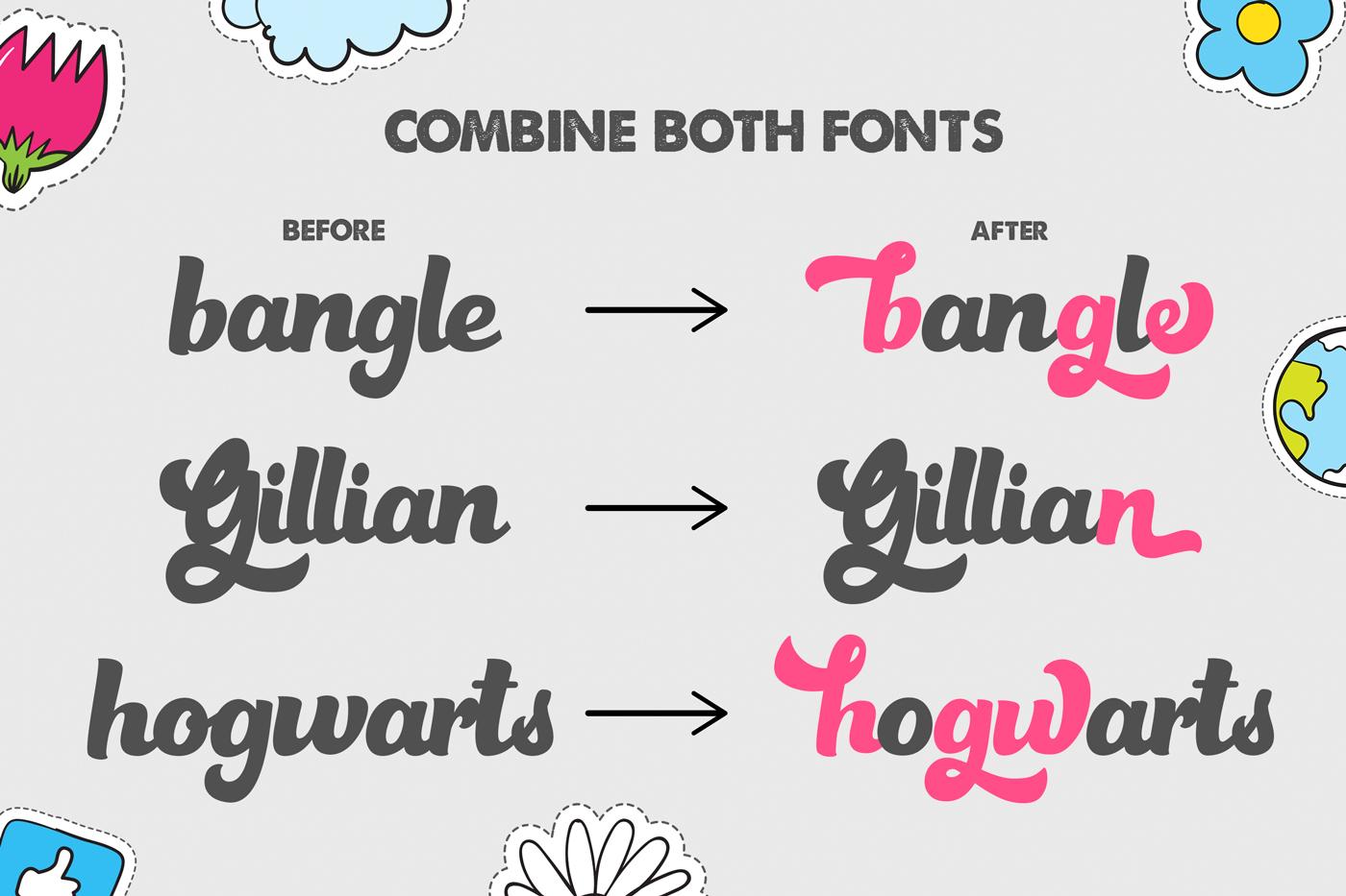 Gazillions Script Font Duo example image 6