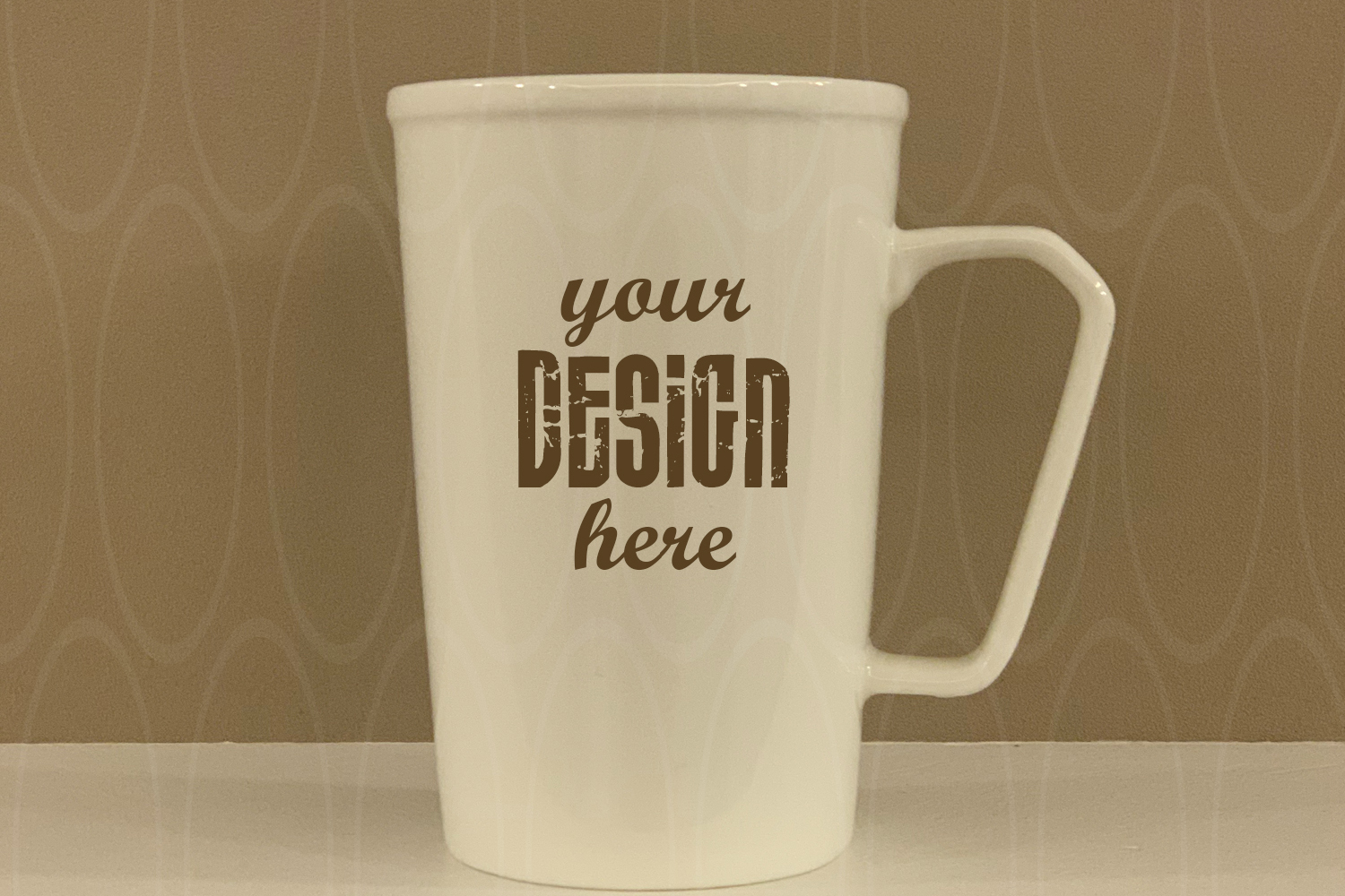 Blank White Coffee Cup Mockup Mug mock up Product Graphic example image 1