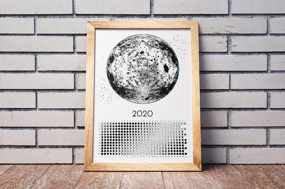Moon Calendar 2020 Black & White example image 8
