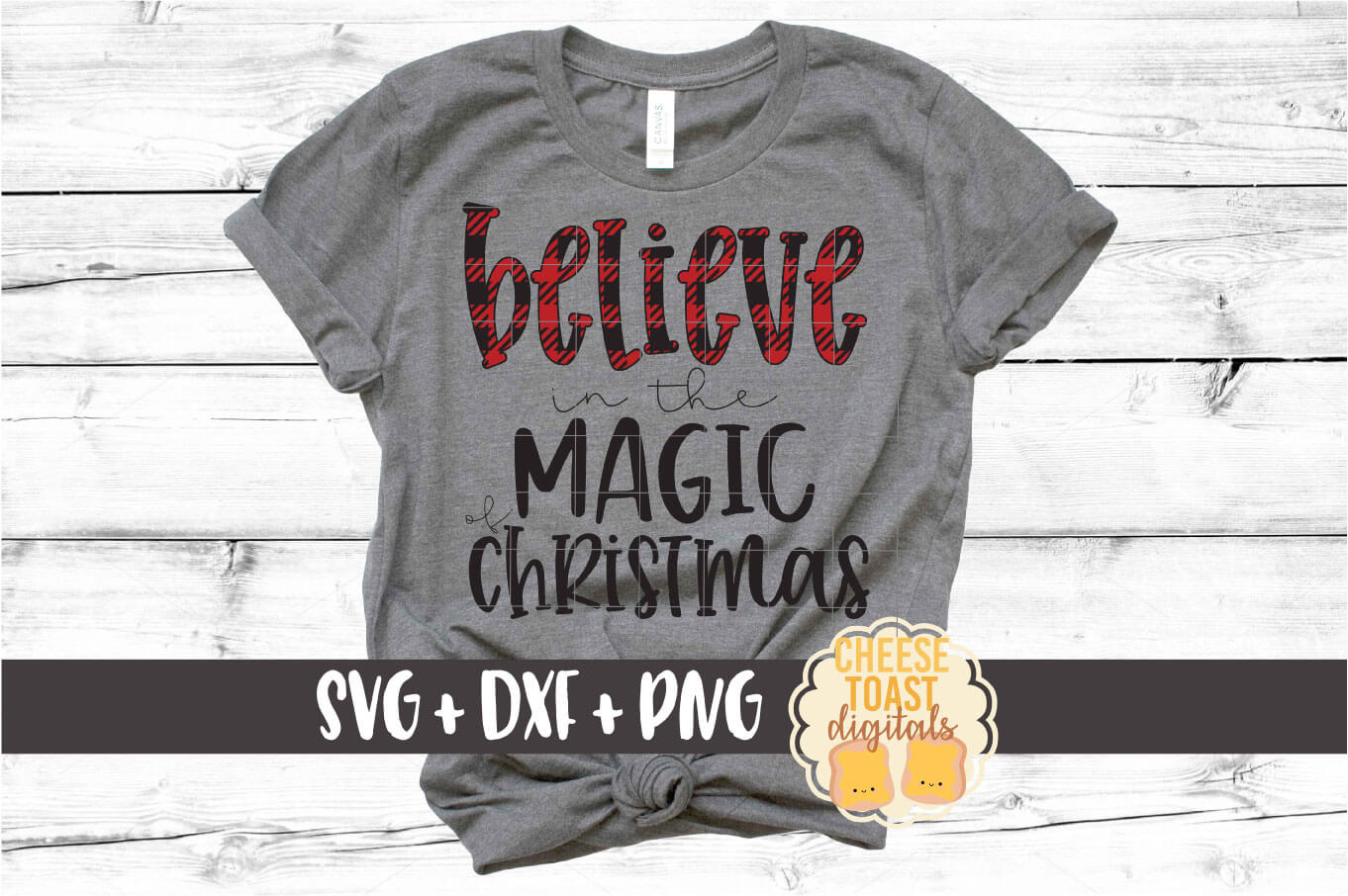 Believe In The Magic of Christmas SVG PNG DXF Cut Files example image 1