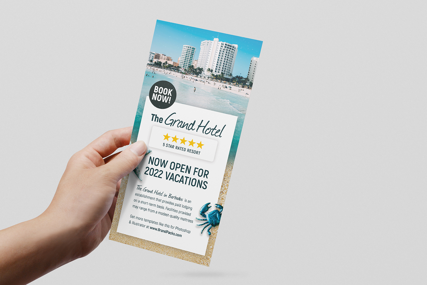 Travel Hotel Rack Card Template example image 2