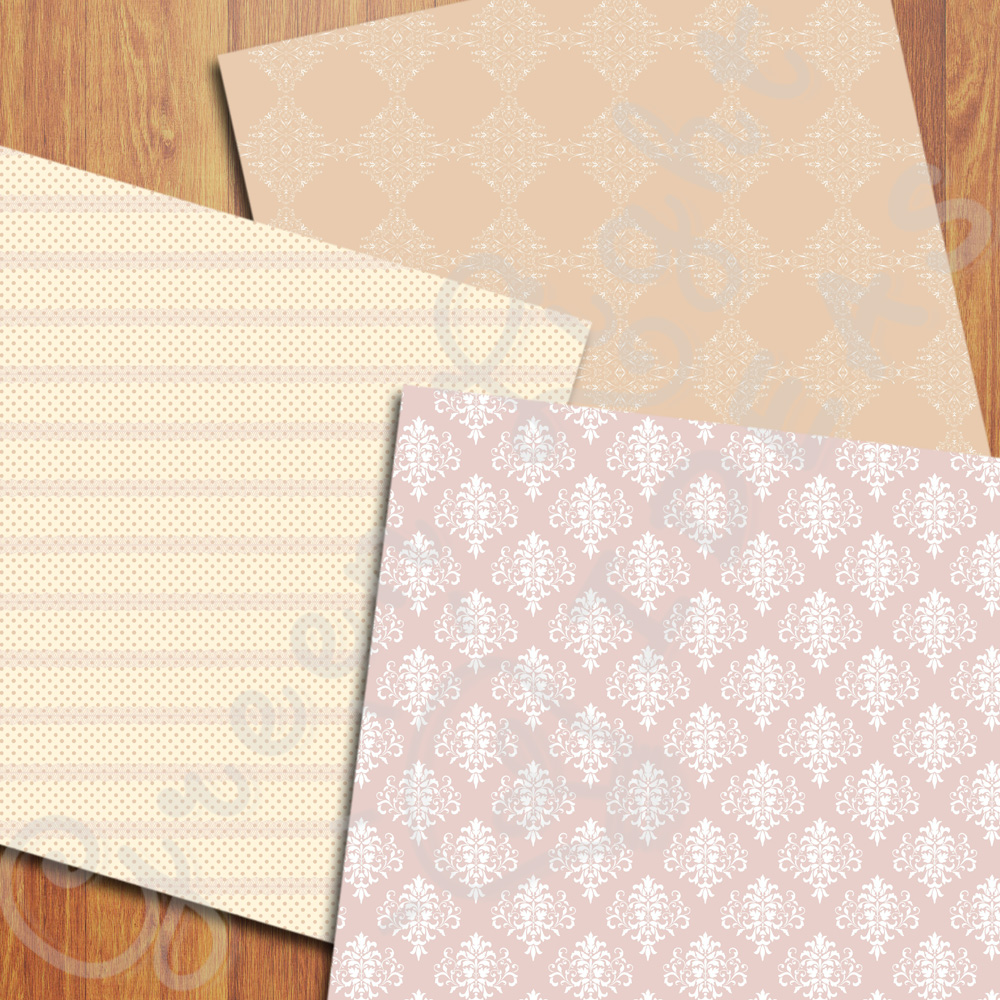 Elegant Wedding Digital Papers example image 2