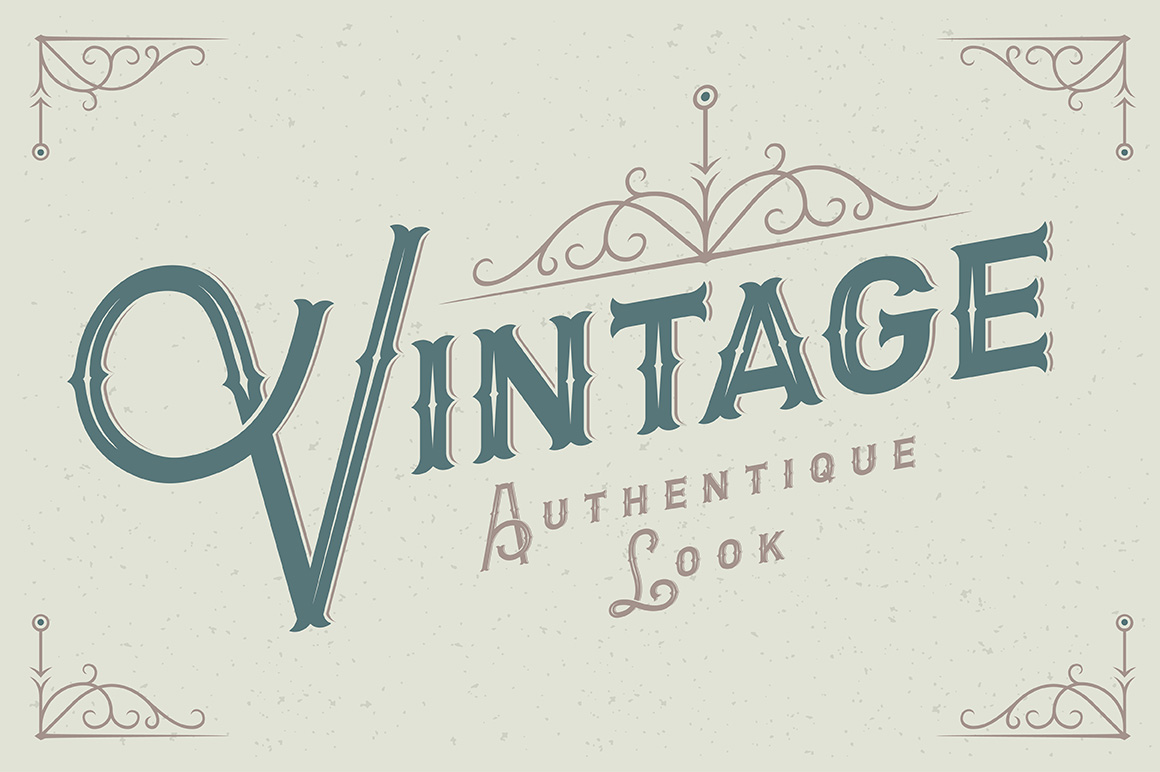 Letterhead typeface with ornate example image 2