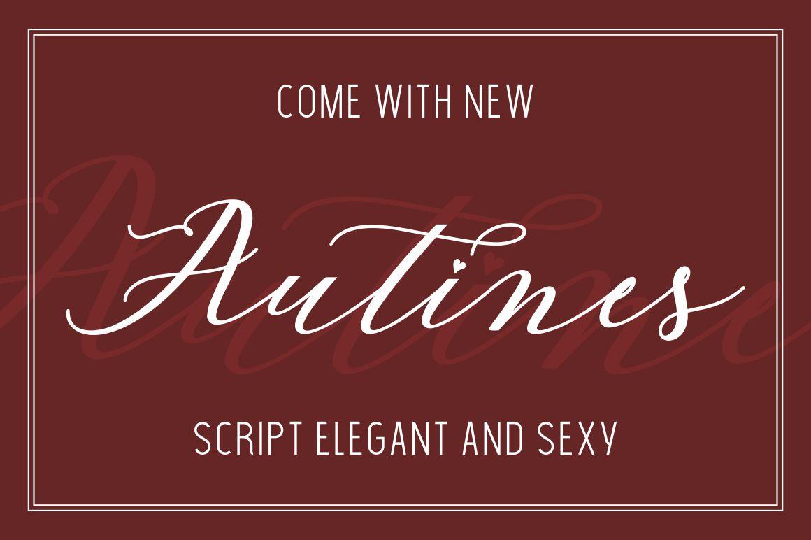 Autines Script example image 5