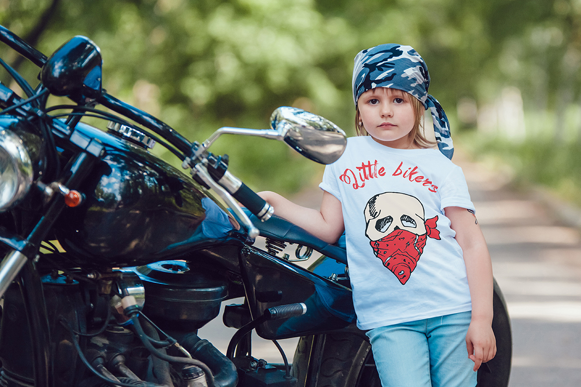 Little Bikers T-Shirt Mock-Up example image 9