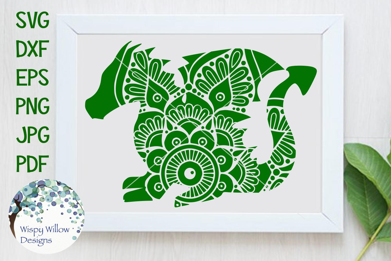 Dragon Mandala Zentangle SVG Cut File example image 1