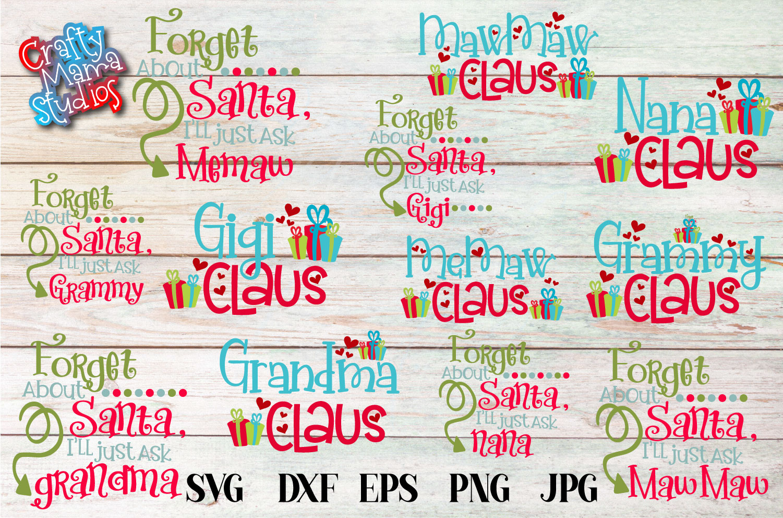 Christmas SVG, Grandma Claus, Grandma Christmas Bundle SVG example image 1