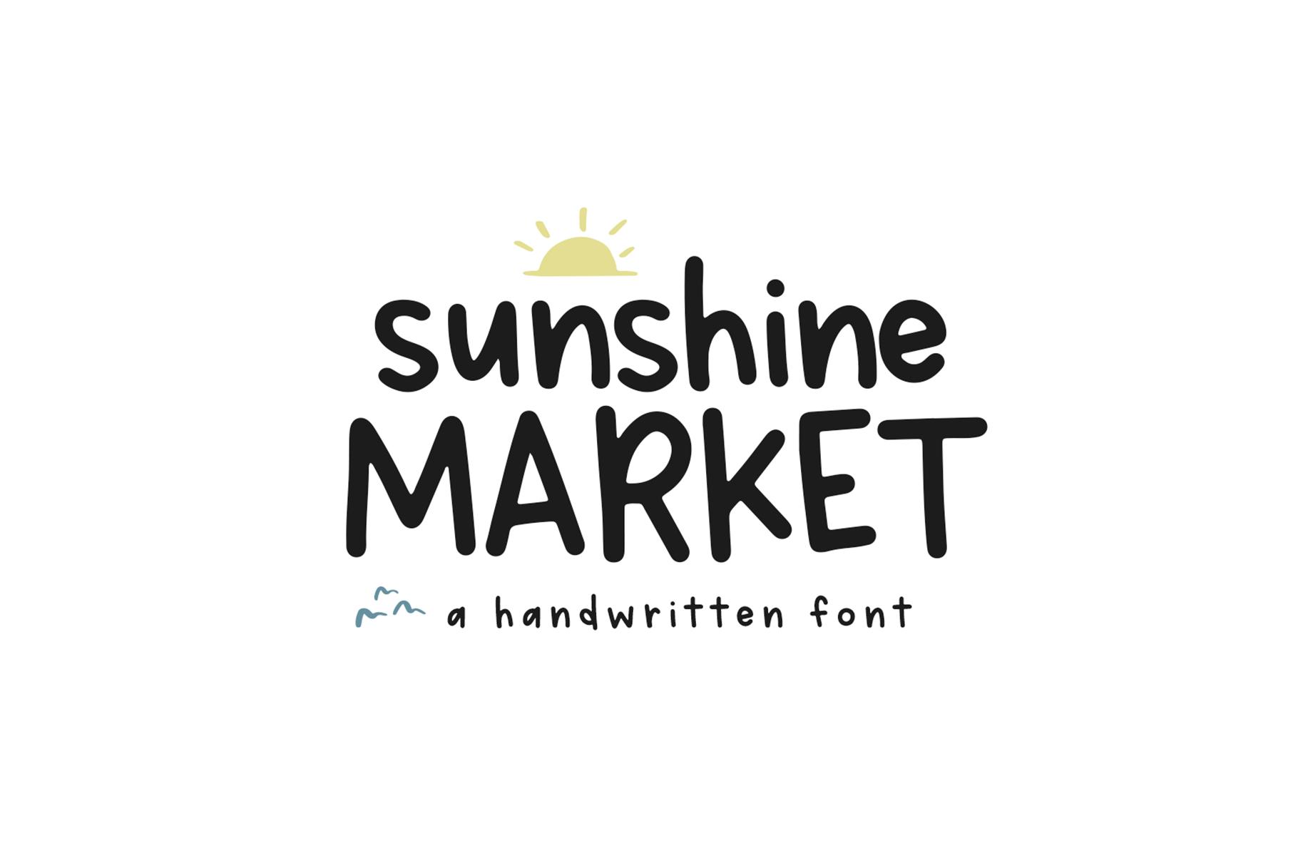 Sunshine Market - A Handwritten Font example image 1