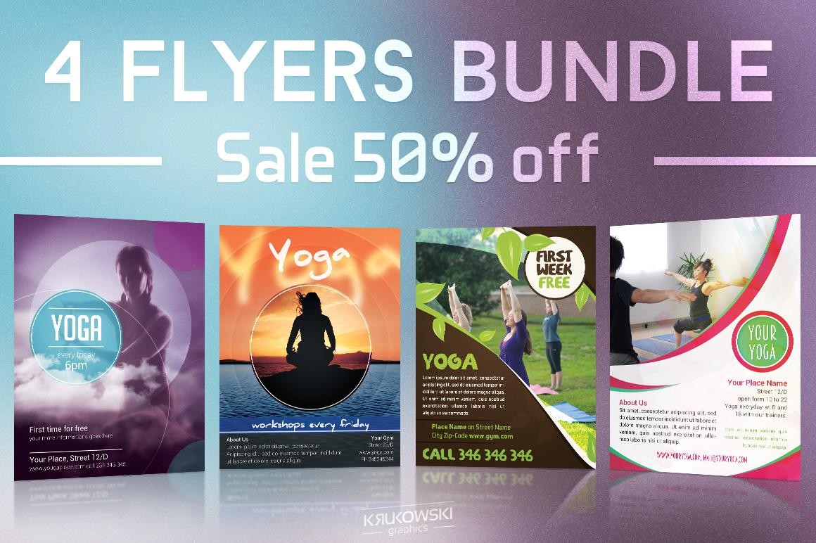 Yoga Flyers Bundle example image 1
