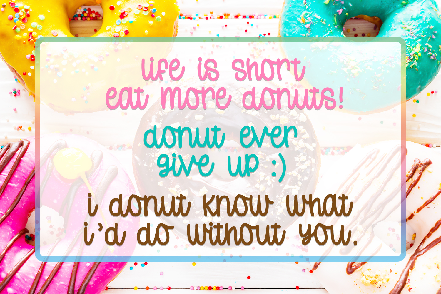 Donut Worry - Hand lettered crafting font example image 7