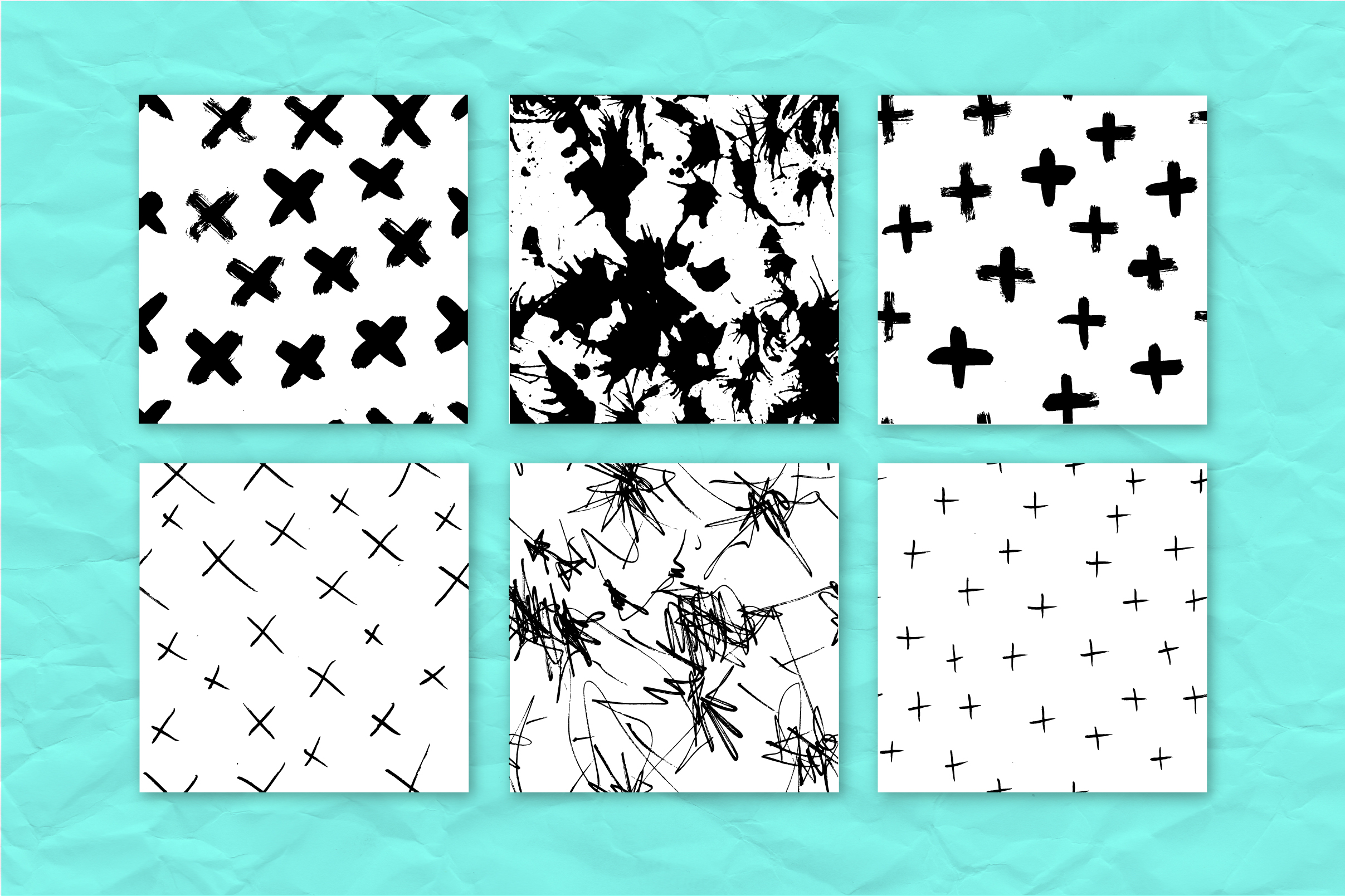34 ink effect seamless patterns v3 example image 4