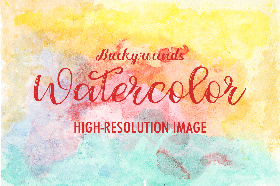 50 Watercolor Backgrounds 02 example image 10