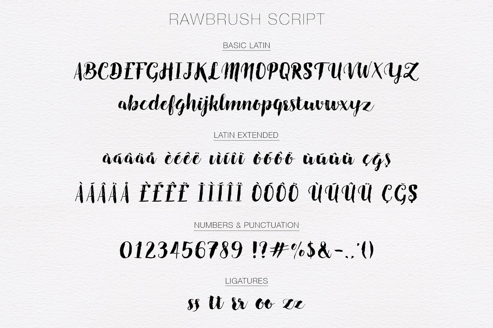 Rawbrush Font Duo example image 5