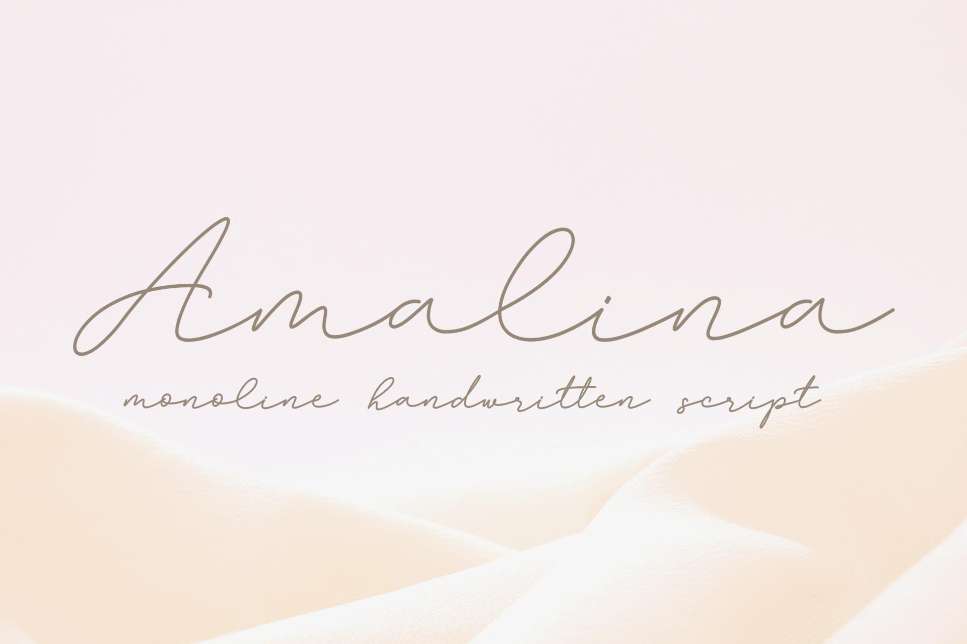 Amalina Monoline Script Font example image 1