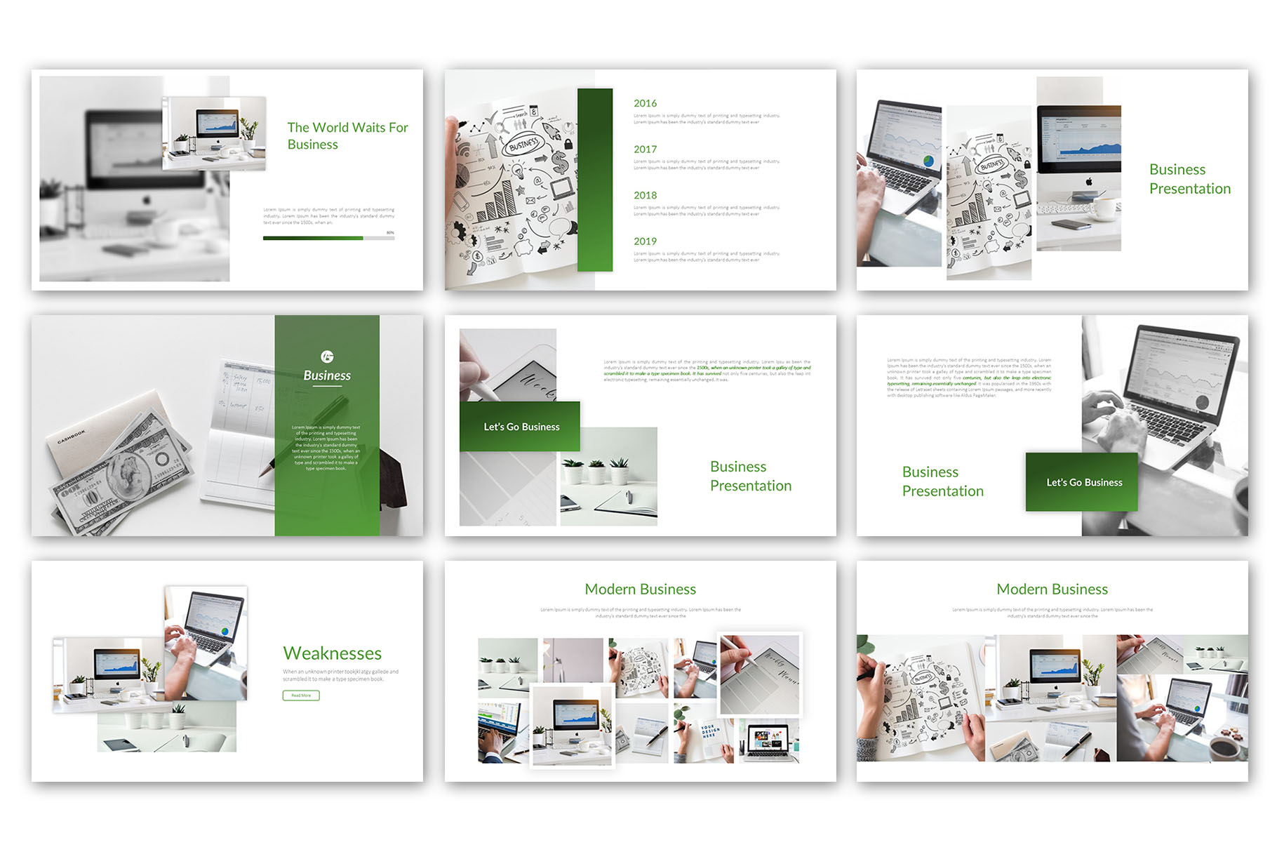 Modern Business Presentation Template example image 6