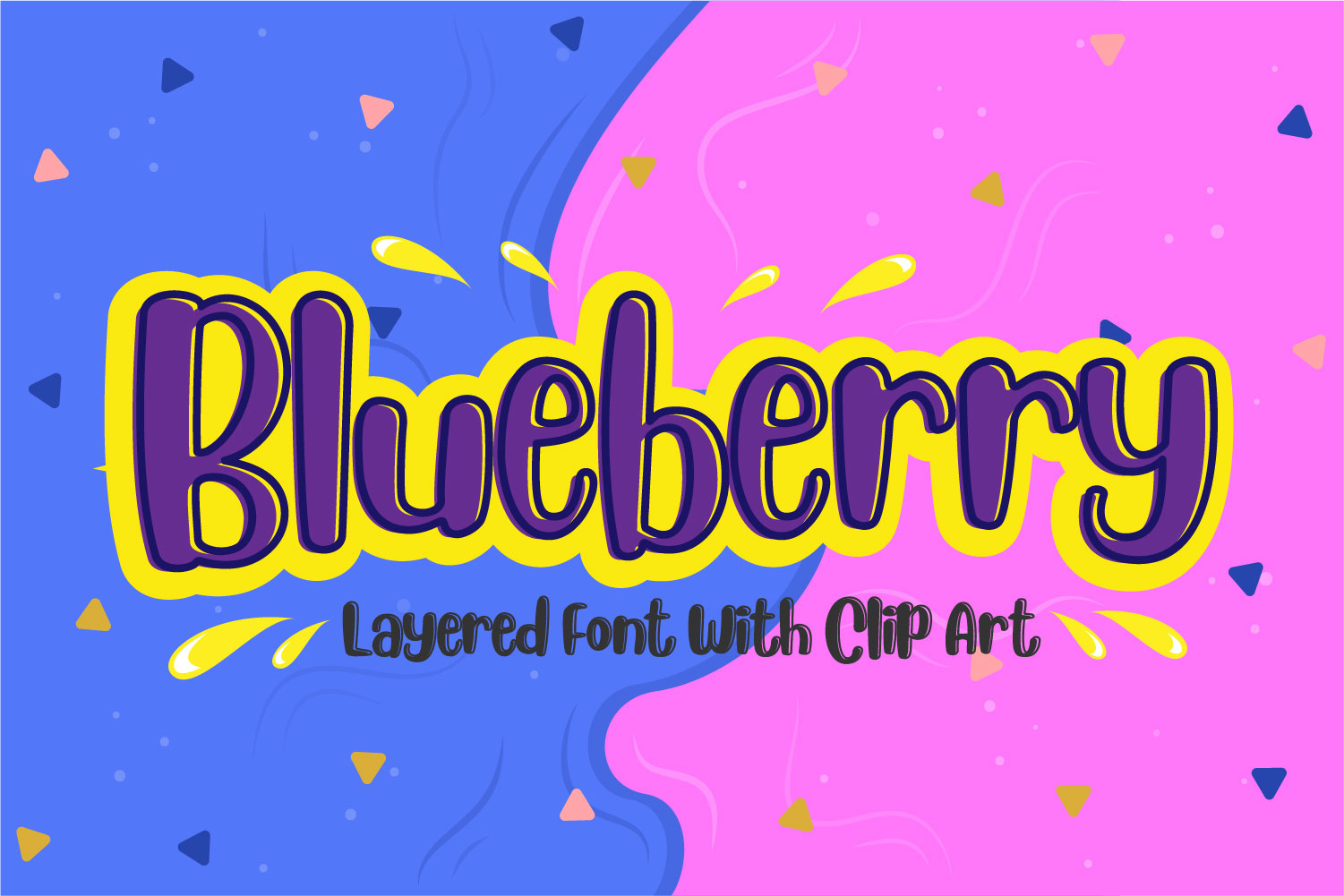 Blueberry - Layered Font example image 1