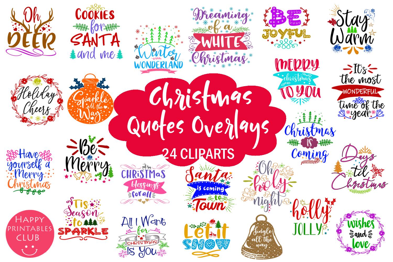Christmas Overlays-Clipart Bundle-Holiday Overlays Bundle example image 6