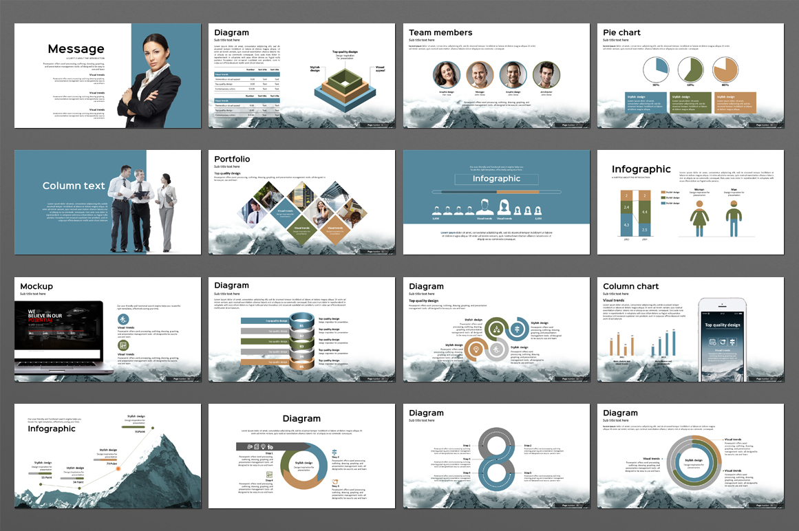 Mountain Powerpoint Template example image 2