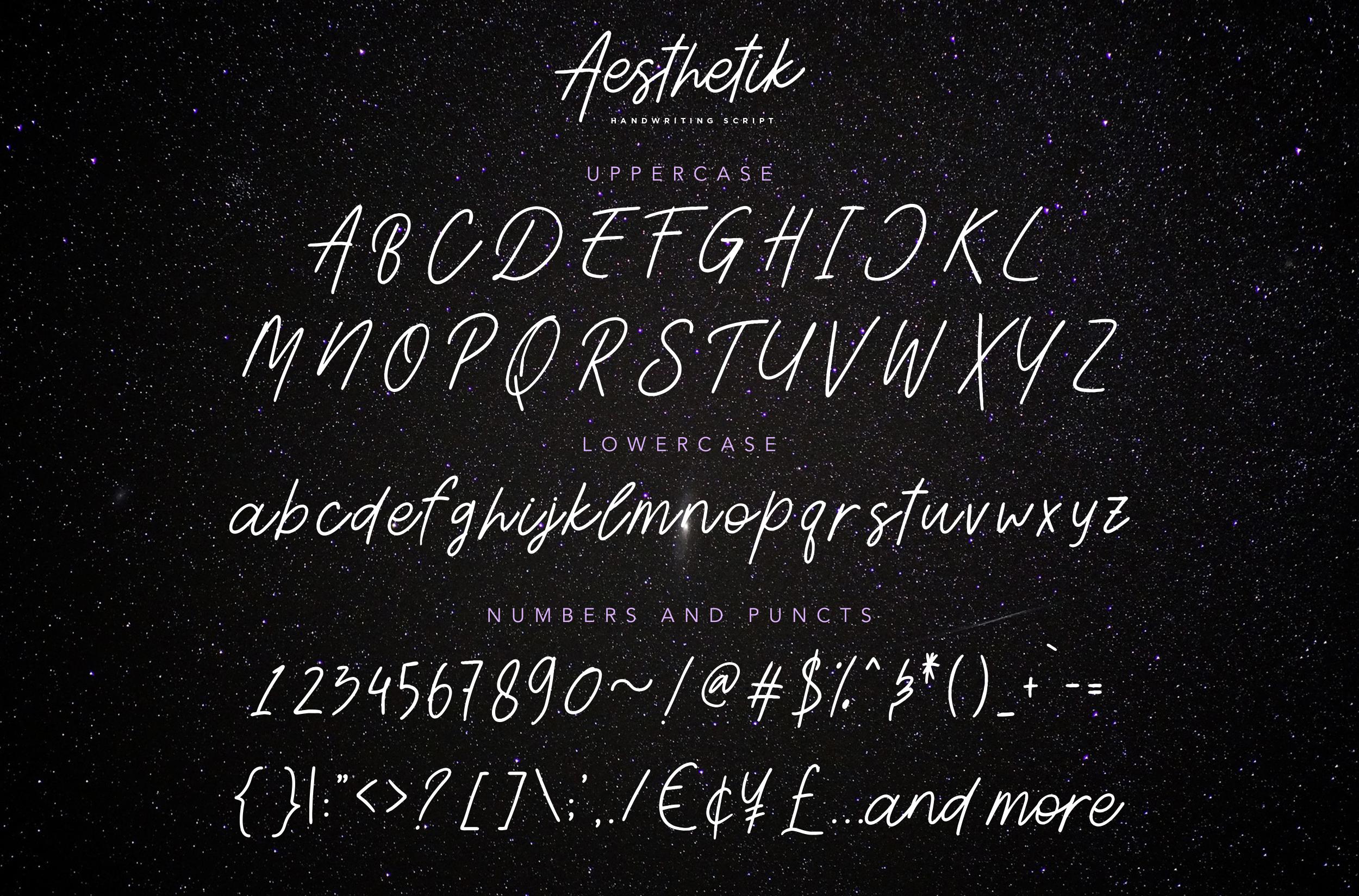 Aesthetik | Handwriting Font example image 8