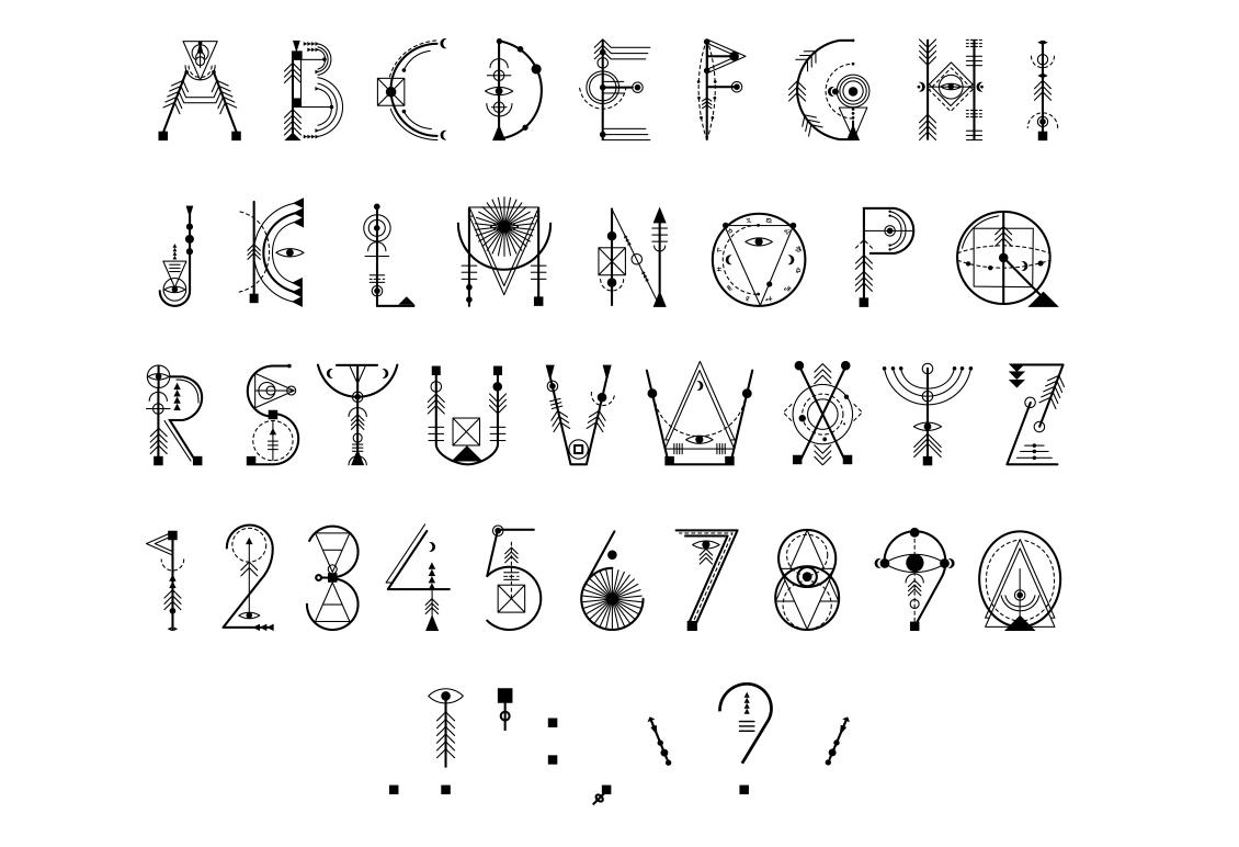 Sacred Geometry Font example image 16