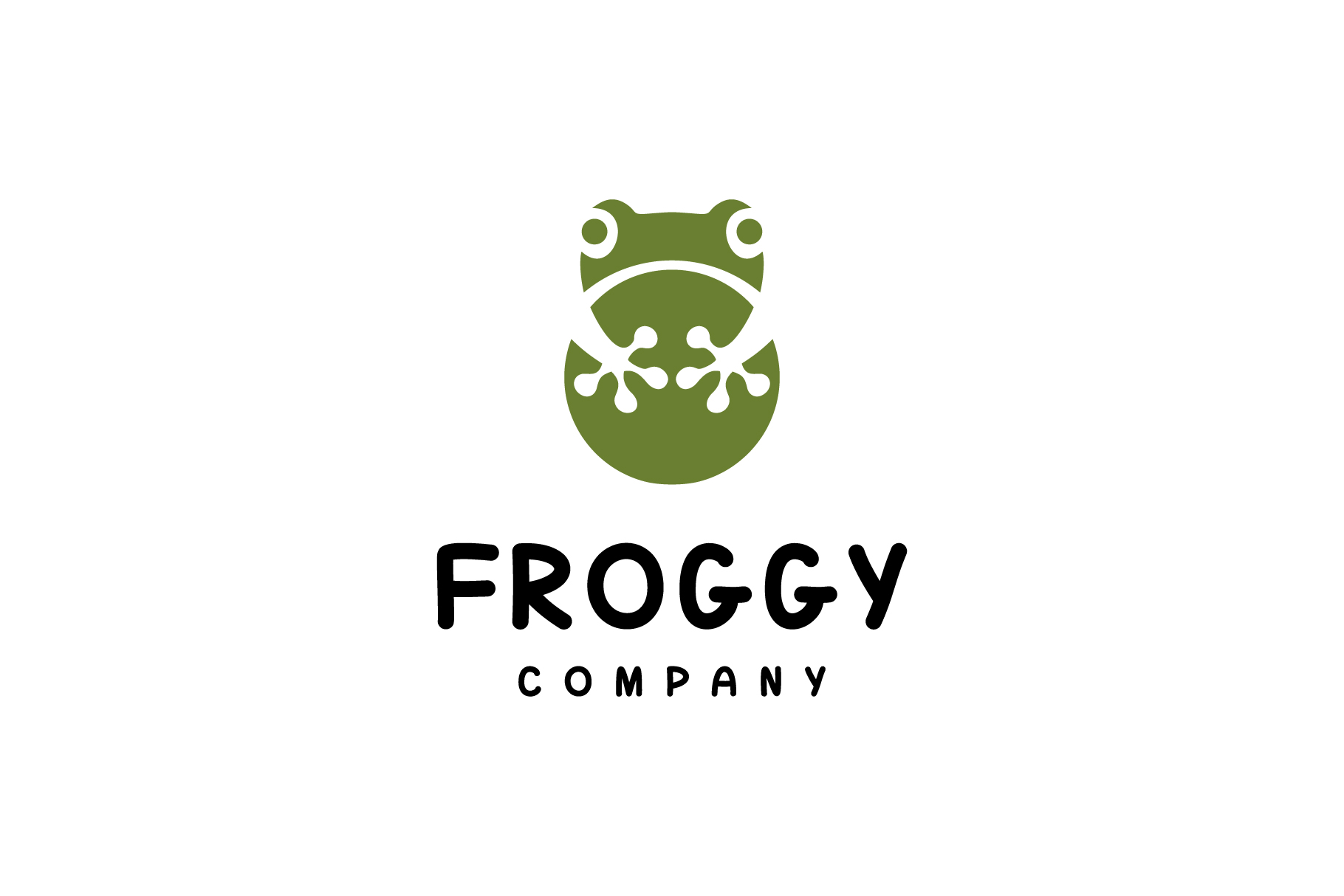 simple frog logo example image 1