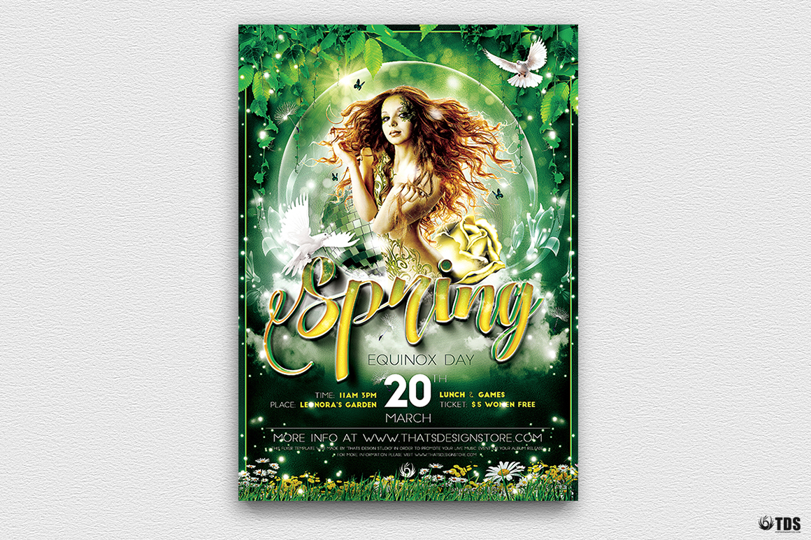 Spring Equinox Flyer Template V2 example image 2