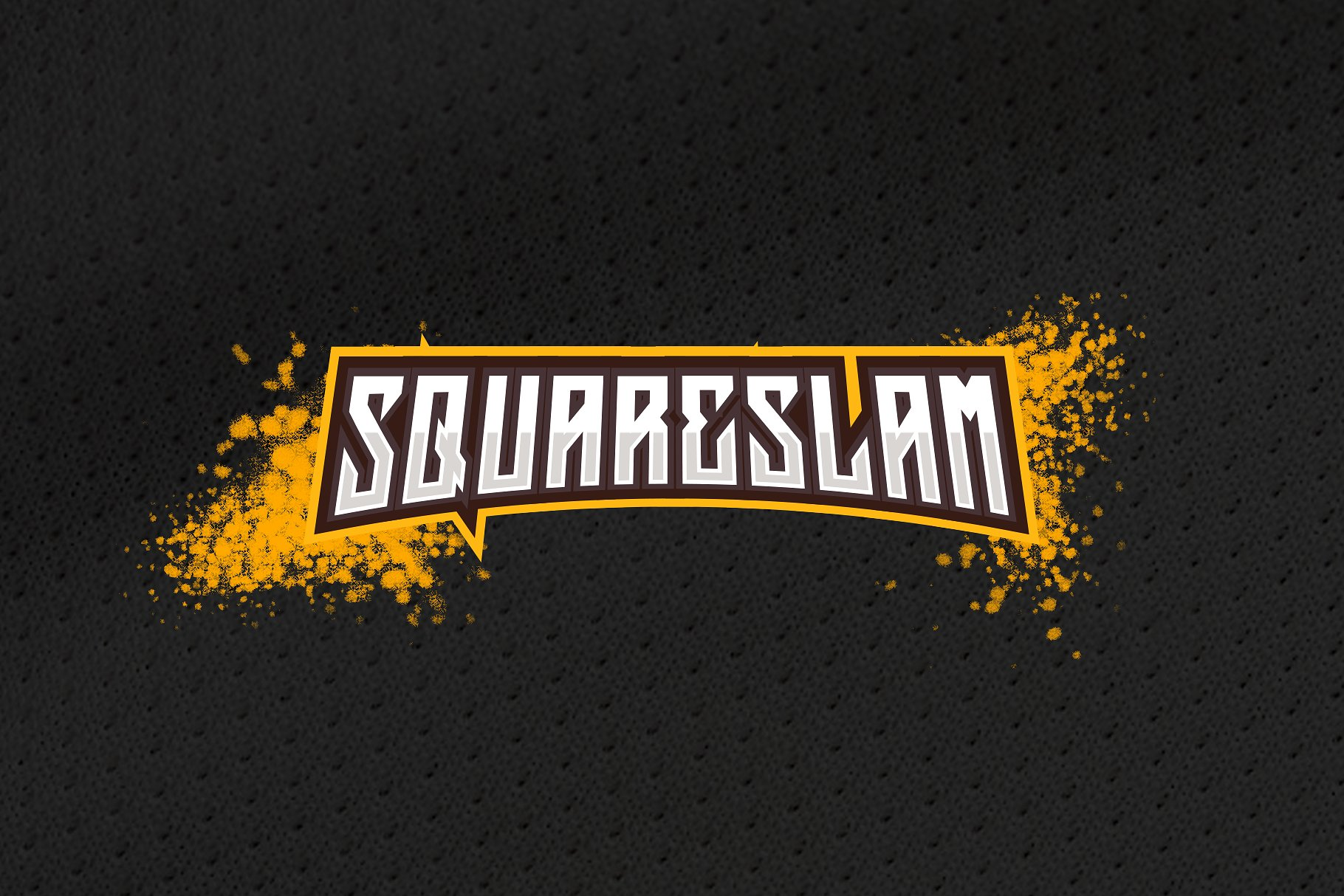 Squareslam sports and esports font example image 5