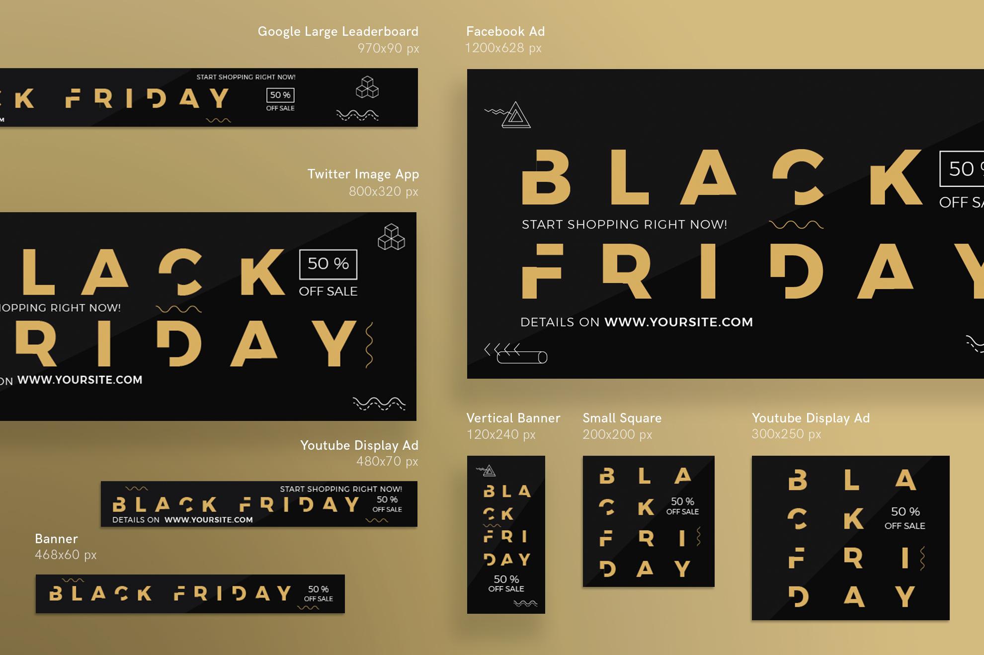 Black Friday Sale Design Templates Bundle example image 6