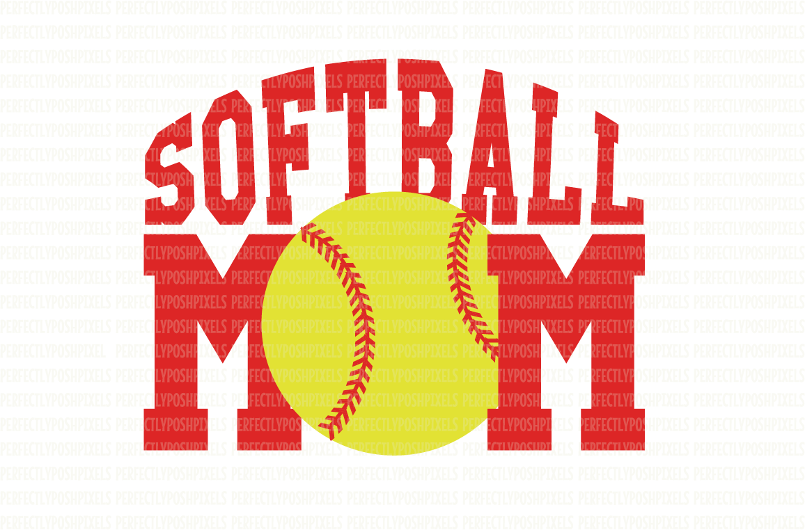 Softball SVG Files Baseball Mom SVG Files Digital Vector Art Printable Clipart DXF EPS PNG JPG Cut Files SVG for Circuit Design Files Silhouette DXF for Cameo SVG Cut Files Commercial Use  example image 1