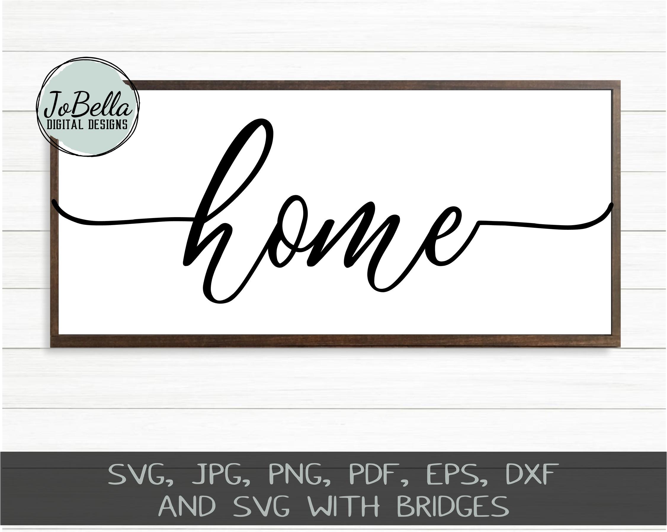 Home Wood Sign SVG Bundle - Farmhouse SVG Bundle example image 7