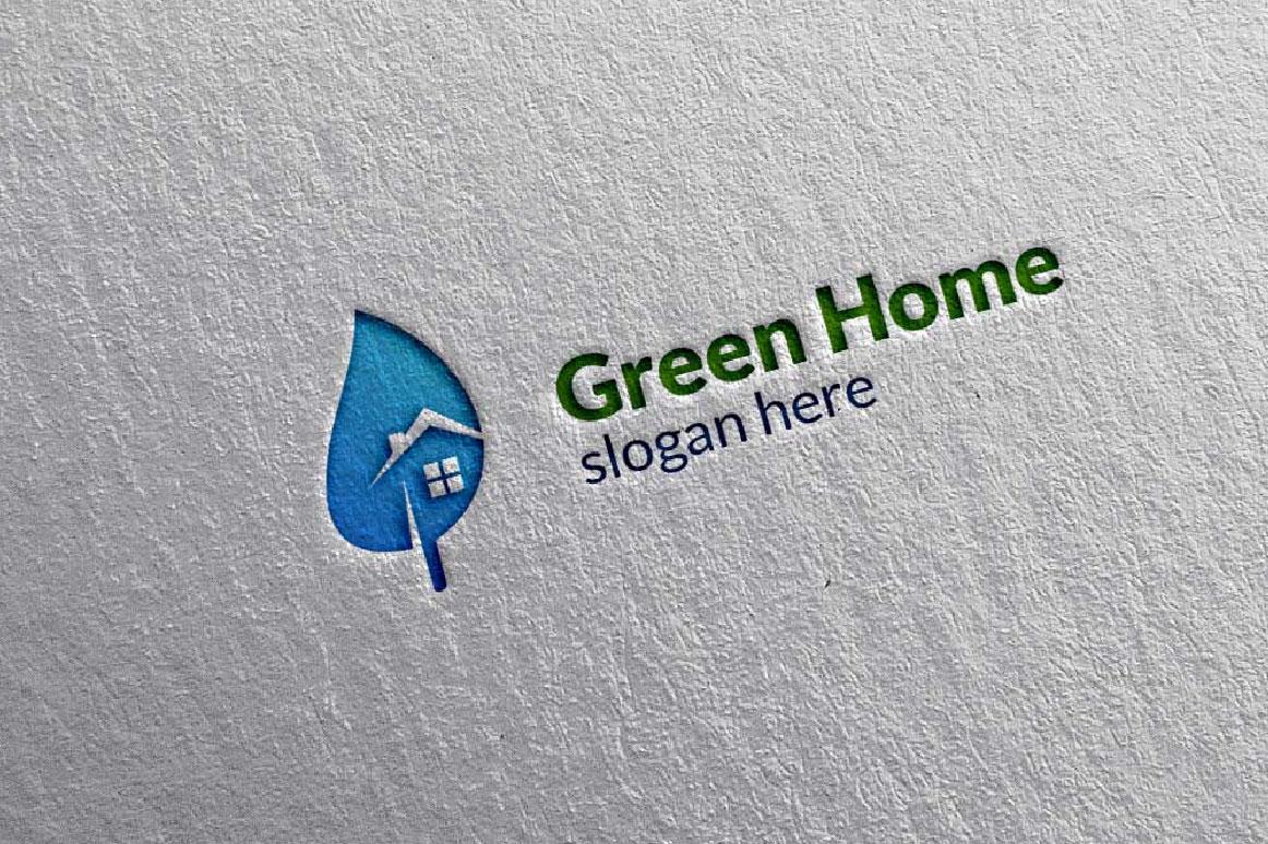 Real estate Logo, Green Home Logo 6 example image 2