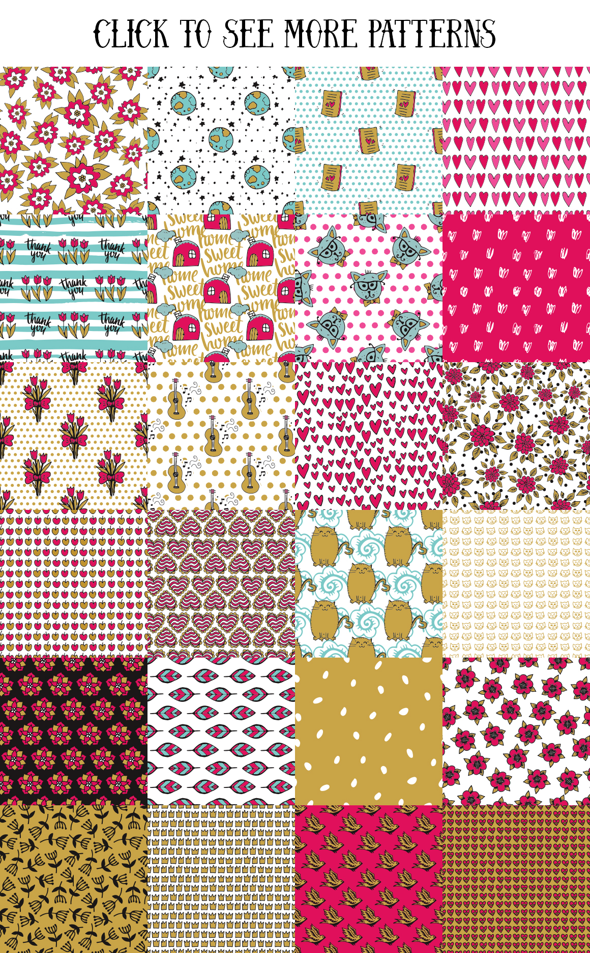 70 Valentine's Day Seamless Patterns example image 3