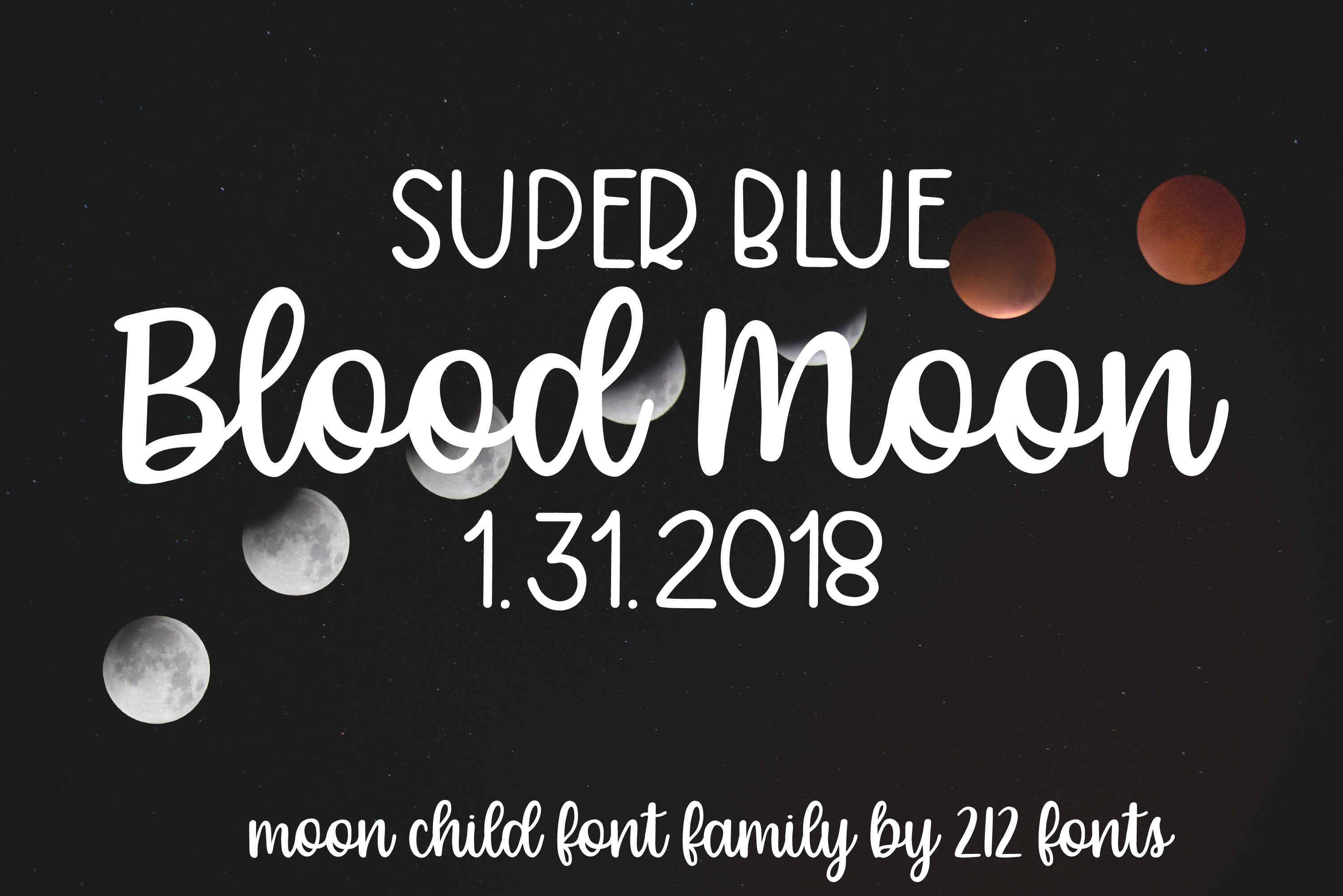 Moon Child Font Trio example image 11