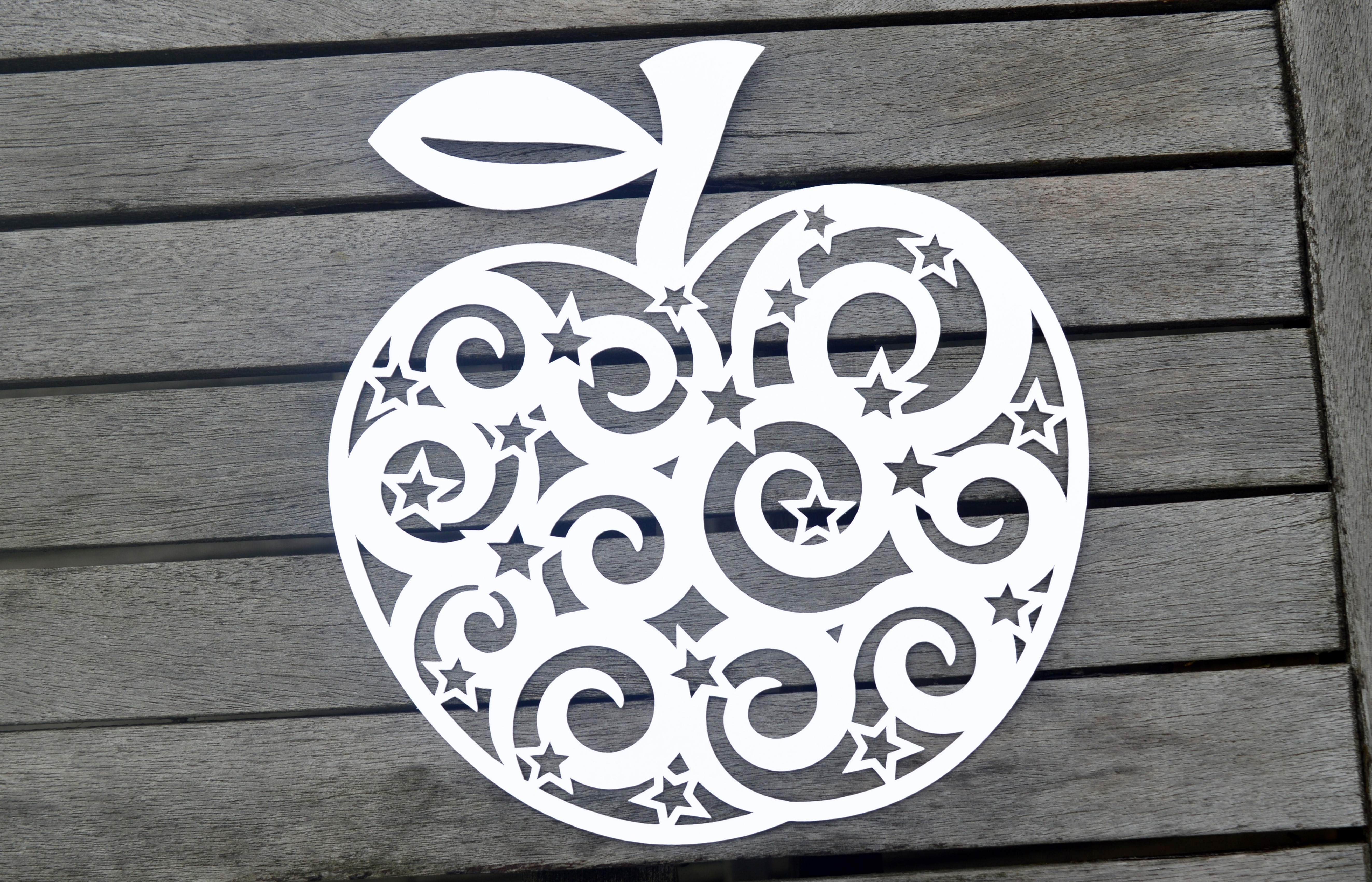 Apple Paper Cut SVG / DXF / EPS Files example image 2
