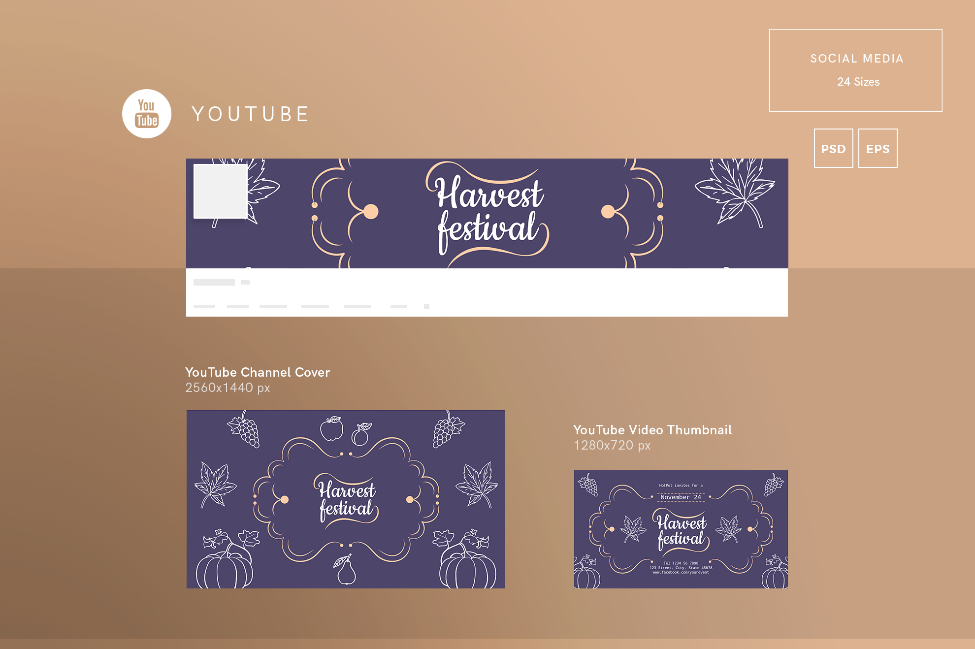 Harvest Festival Design Templates Bundle example image 7