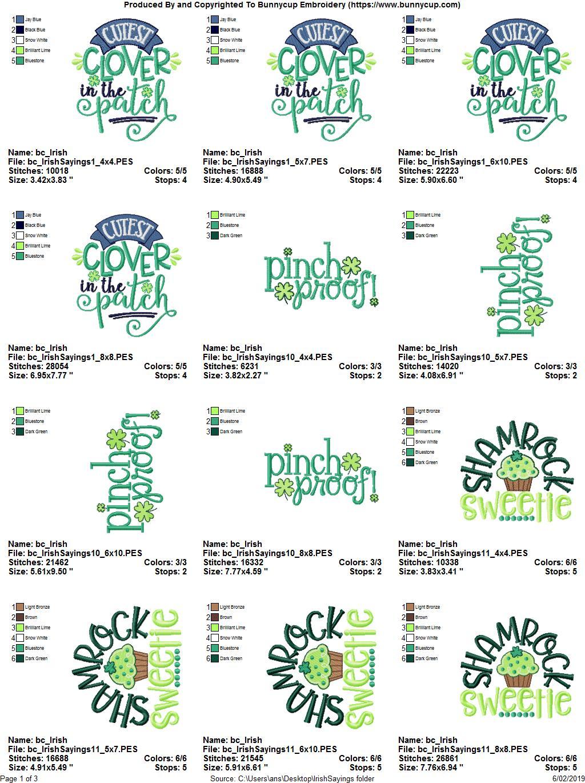 Irish Sayings - 12 Machine Embroidery Designs example image 2