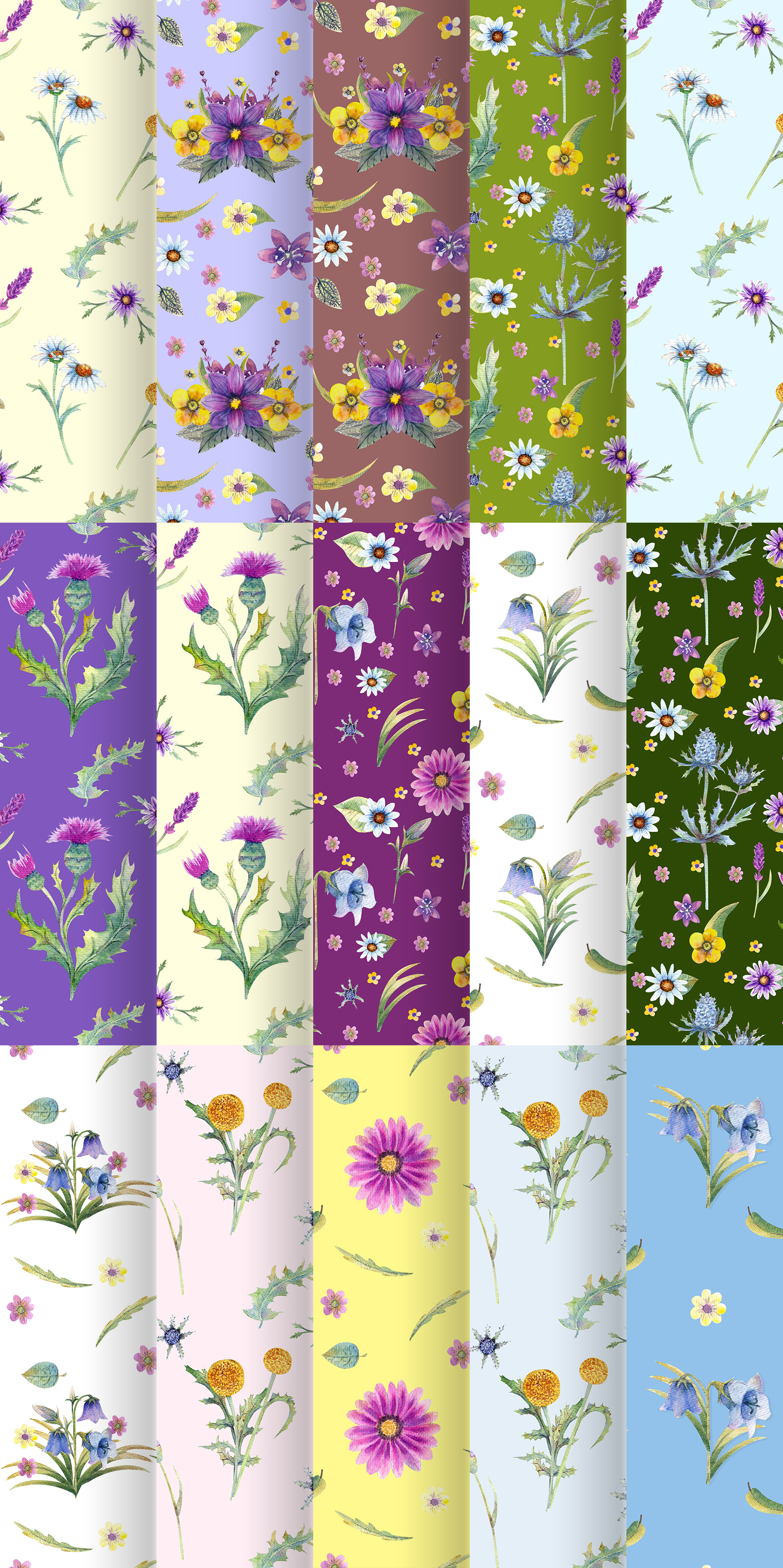 Wild flowers watercolor example image 3