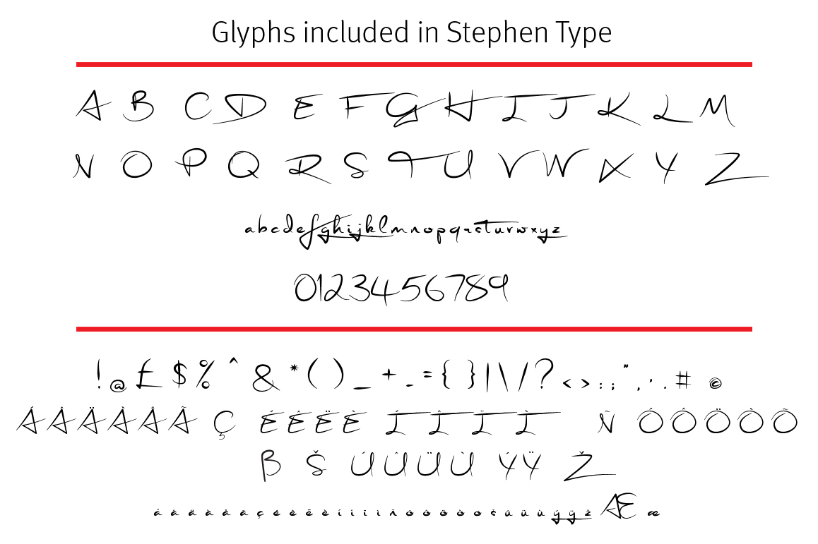 Stephen Type - Signature Font example image 4